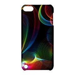 Abstract Rainbow Twirls Apple Ipod Touch 5 Hardshell Case With Stand