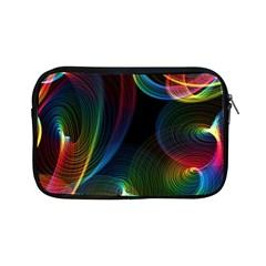 Abstract Rainbow Twirls Apple iPad Mini Zipper Cases