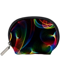 Abstract Rainbow Twirls Accessory Pouches (Small)