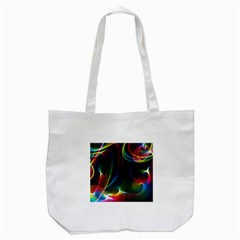 Abstract Rainbow Twirls Tote Bag (White)