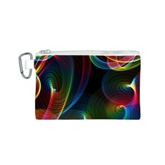 Abstract Rainbow Twirls Canvas Cosmetic Bag (s)