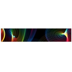 Abstract Rainbow Twirls Flano Scarf (Large)