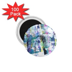 Background Color Circle Pattern 1.75  Magnets (100 pack)