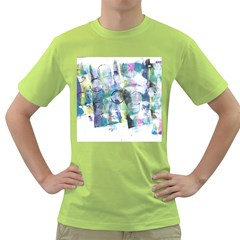 Background Color Circle Pattern Green T-Shirt