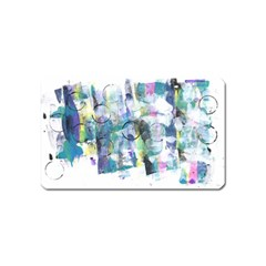 Background Color Circle Pattern Magnet (Name Card)