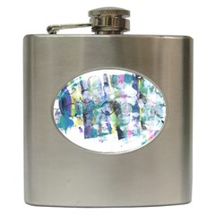 Background Color Circle Pattern Hip Flask (6 oz)