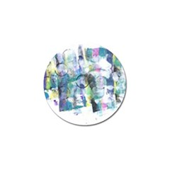 Background Color Circle Pattern Golf Ball Marker