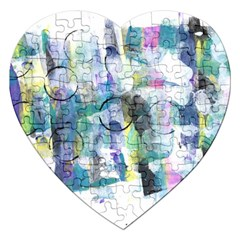 Background Color Circle Pattern Jigsaw Puzzle (Heart)