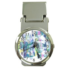 Background Color Circle Pattern Money Clip Watches