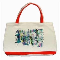 Background Color Circle Pattern Classic Tote Bag (Red)