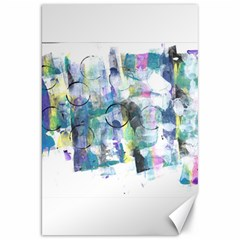 Background Color Circle Pattern Canvas 20  x 30