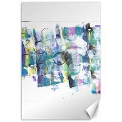 Background Color Circle Pattern Canvas 24  x 36