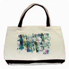 Background Color Circle Pattern Basic Tote Bag (Two Sides)
