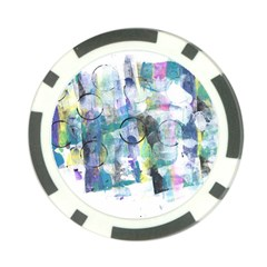 Background Color Circle Pattern Poker Chip Card Guard (10 pack)