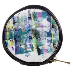 Background Color Circle Pattern Mini Makeup Bags