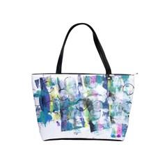 Background Color Circle Pattern Shoulder Handbags