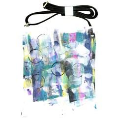 Background Color Circle Pattern Shoulder Sling Bags