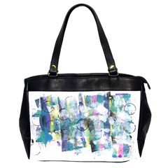 Background Color Circle Pattern Office Handbags (2 Sides)