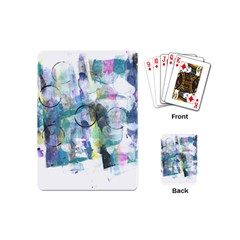 Background Color Circle Pattern Playing Cards (Mini)