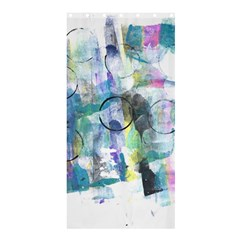 Background Color Circle Pattern Shower Curtain 36  x 72  (Stall)
