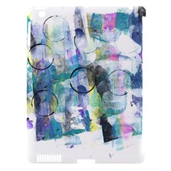 Background Color Circle Pattern Apple iPad 3/4 Hardshell Case (Compatible with Smart Cover)