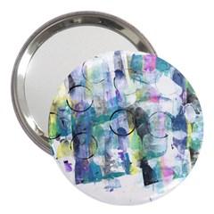 Background Color Circle Pattern 3  Handbag Mirrors