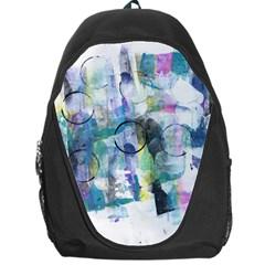 Background Color Circle Pattern Backpack Bag