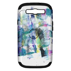Background Color Circle Pattern Samsung Galaxy S III Hardshell Case (PC+Silicone)