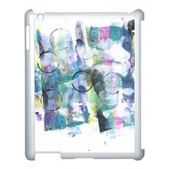 Background Color Circle Pattern Apple iPad 3/4 Case (White)