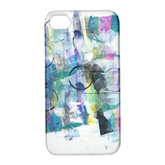 Background Color Circle Pattern Apple Iphone 4/4s Hardshell Case With Stand