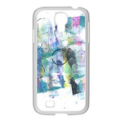 Background Color Circle Pattern Samsung Galaxy S4 I9500/ I9505 Case (white)