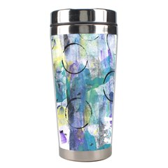 Background Color Circle Pattern Stainless Steel Travel Tumblers