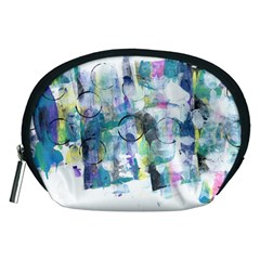 Background Color Circle Pattern Accessory Pouches (Medium)
