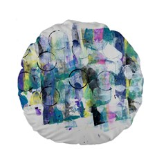 Background Color Circle Pattern Standard 15  Premium Flano Round Cushions