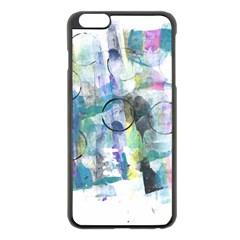 Background Color Circle Pattern Apple iPhone 6 Plus/6S Plus Black Enamel Case