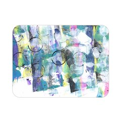 Background Color Circle Pattern Double Sided Flano Blanket (Mini)