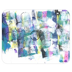 Background Color Circle Pattern Double Sided Flano Blanket (Medium)