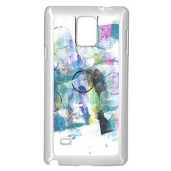 Background Color Circle Pattern Samsung Galaxy Note 4 Case (White)