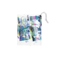Background Color Circle Pattern Drawstring Pouches (xs)