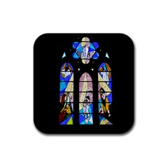 Art Church Window Rubber Coaster (square)