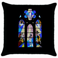Art Church Window Throw Pillow Case (Black)