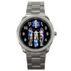 Art Church Window Sport Metal Watch