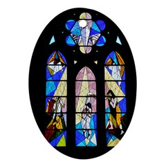 Art Church Window Oval Ornament (Two Sides)