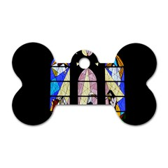 Art Church Window Dog Tag Bone (Two Sides)