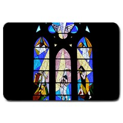 Art Church Window Large Doormat