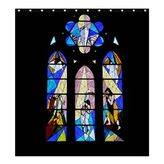 Art Church Window Shower Curtain 66  x 72  (Large)