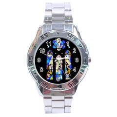Art Church Window Stainless Steel Analogue Watch