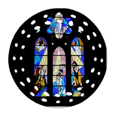 Art Church Window Ornament (Round Filigree)