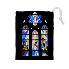 Art Church Window Drawstring Pouches (Large)