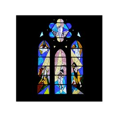 Art Church Window Small Satin Scarf (square)